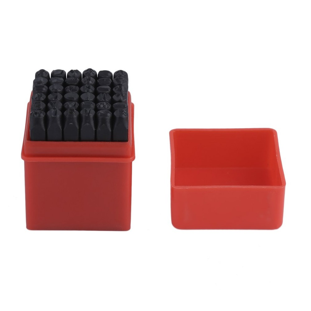 Newest Letter & Number 36pcs/Set Hand Marking Stamp Punch Kit Steel Metal Leather Craft Tool 5MM For Beading Jewelry Making new arrival 20pcs steel design stamp punch tool for beading