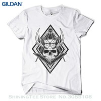 Print Tee Men Short Sleeve Clothing Butterfly Skull T Shirt Fashion Print Indie Urban Design Mens