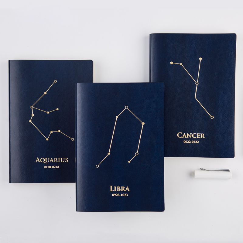 NNRTS stationery 12 Constellation Schedule book A5 notebook Creative blue star book catalog blue book