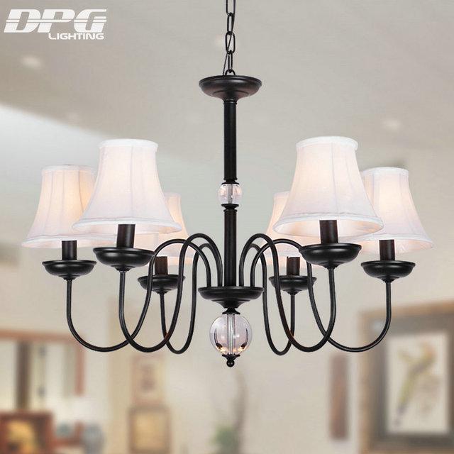 Lustre Luminaires LED Moderne lustre Plafond E14 110 V 220 V Fer
