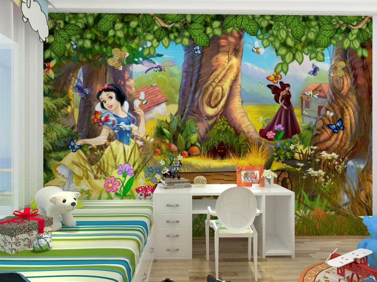Online get cheap forest wallpaper murals for Mural 3d simple