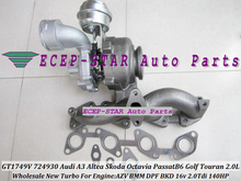 GT1749V 724930 724930-5009S 724930-0002 Turbo Turbocharger For AUDI A3 Skoda Octavia VW Passat B6 Golf Touran AZV BMM BKD 2.0L