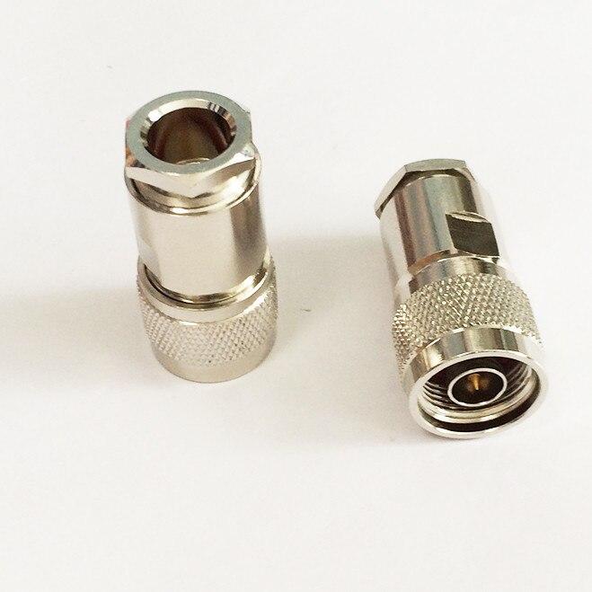 1 шт. N typ штекер RF коаксиальный разъем зажим для LMR400 RG8 RG213 кабель