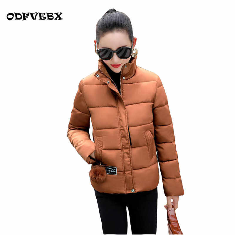 2019 winter new down cotton jackets Female fashion slim cotton ladies short section collar plus size M-3XL jacket coat women's