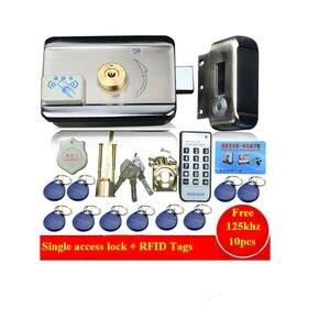Image 2 - 10pc tagi drzwi i zamknięcie do bramy system kontroli dostępu elektroniczny zintegrowany zamek wierzchni drzwi RFID w/ 1000 użytkowników czytnik RFID do interkomu