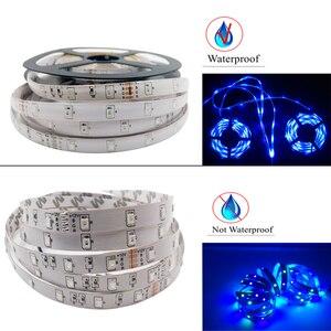 Image 4 - Led Strip Light 2835 SMD RGB Tape 5M 10M 15M 20M DC12V 3528 Flexible RGB LED Stripe Ribbon Diode +24Key Controller+ Adapter EU