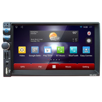 Auto-styling 7 2Din Stereo Auto Android Mp5 Bluetooth Touch Radio AM/FM/RDS/GPS/USB/SD Apri 24 drop shipping