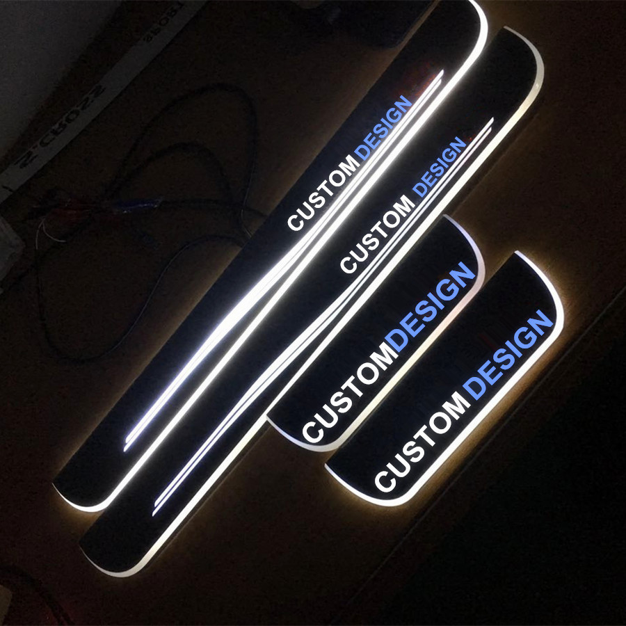special custom made High Quality Acrylic LED Welcome Scuff Plate Pedal Door Sill Front Door light for Series 2 BMW F22 ( 2015) 2 pcs cool custom led high quality acrylic scuff sill panel step plate cover car accessories forjaguar xf from 2012 2015