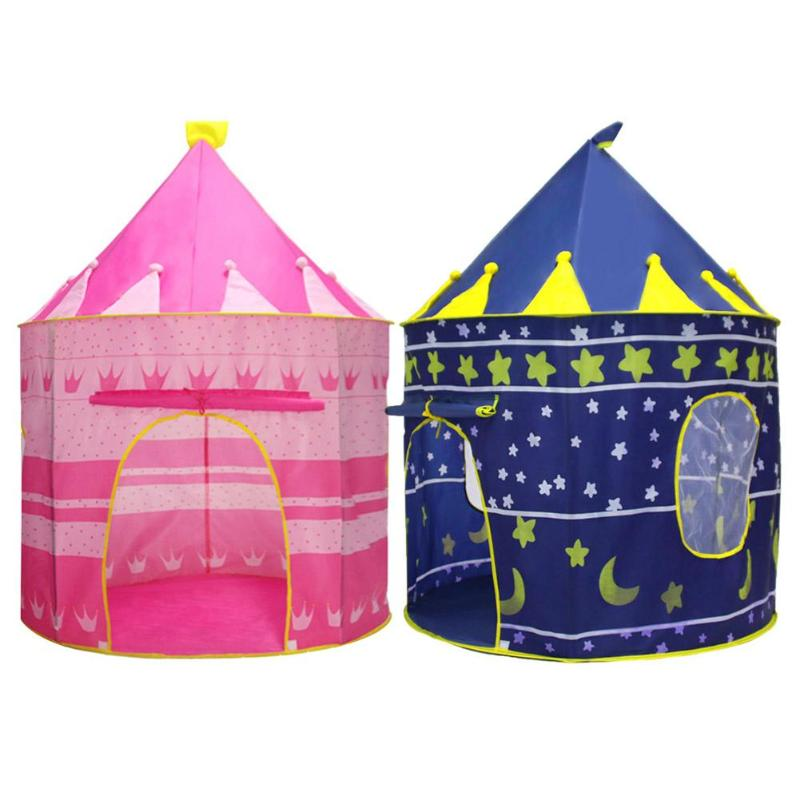 Portable Outdoor Indoor Tent Cute Castle Cubby Playhut Tent Child Outdoor Camping Tent Foldable Baby Kid Play House Balls Toys