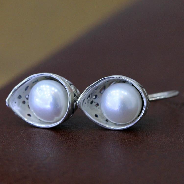 981aad1bc345 Madreperla natural Shell perla pendientes 925 pendientes de plata de ley  elegante blanco y verde libre 1.2 cm en Pendientes de Joyería y accesorios  en ...