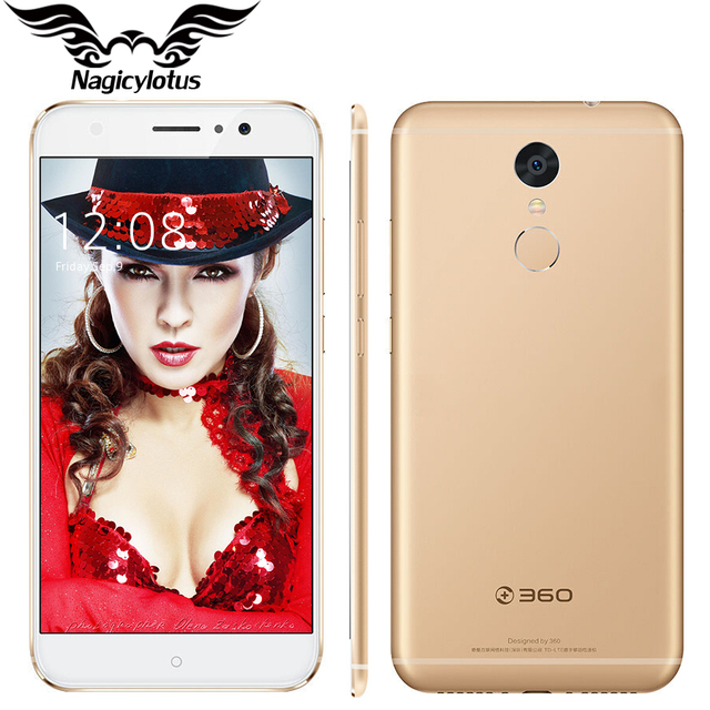 Original 360 N4S 4G LTE MTK Mobile Phone Helio X20 Deca Core 4GB RAM 32GB ROM 5.5 inch HD Android 6.0 16MP 5000mAh Fingerprint