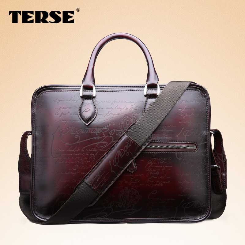 Terse 2016 Top S Bag Quality Guarantee Men Genuine Leather Briefcase Italian Design Handmade Fashion Office Dropshipping In Briefcases From Luggage
