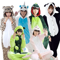 New All in One Flannel Anime Pijama Cartoon Cosplay Warm Hood Loungewear Adult Unisex Homewear Cute Onesies Animal Pajamas