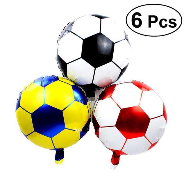 6pcs Soccer Balloons Decoration Aluminum Foil Football Party Favor