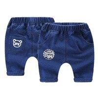 2018 Trẻ Em Quần Jean Shorts Mùa Hè Thời Trang In Bé Trai Casual Bãi Biển Jeans Trẻ Em của Quần Short cho Bé Trai Toddler Quần Short