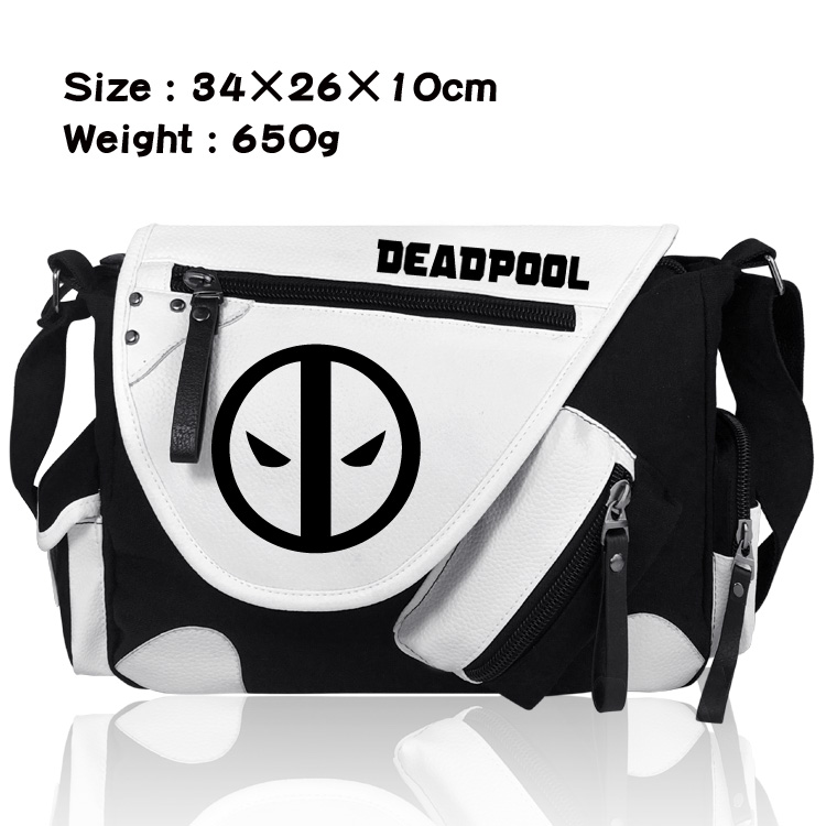 Comics Deadpool Shoulder Messenger Bags Anime Canvas Boys Girls Fans Student School Bags Bookbag Travel Work Bags Gift