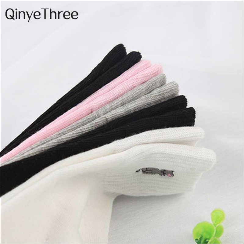 ... 1 пара хлопок милые животные печати женские носки Meias Ретро Вышивка  карамельный цвет забавные унисекс носки ... d41ee174284a7