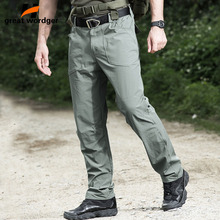 Outdoor Quick Dry Tactical Cargo Pants Men Summer Army Military Style Trousers Mens Hiking lightweight Elasticity Trouser