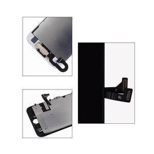 Image 4 - 10 pcs lot Completa Tela de Toque de Vidro Digitalizador & LCD Substituição Assembly Para o iphone 7 7g & Câmera Frontal frete grátis DHL