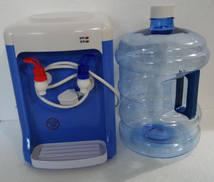 220V 500W mini desktop water dispenser hot 95 degree with 5l bottle with handle cube rfr bottle 0 5l