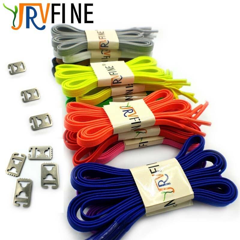 YJRVFINE 1 Pair Lazy No Tie Shoelaces Men Women Kids Casual Sport Flat Elastic Shoe Laces Rope Stainless Steel Shoelace Buckle цена