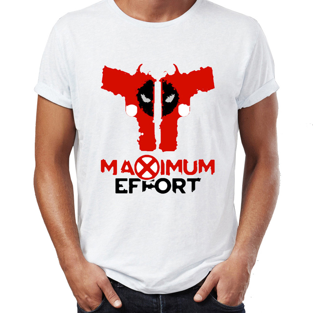 be7ca221 Men's T Shirt Deadpool Maximum Effort Funny Parody Skull Tee-in T ...