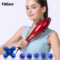 YihCare Electric Cervical Vertebra Massager Device Vibrating Kneading Shoulder Back Neck Massager infrared Shiatsu Body Massage