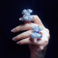 Ювелирные изделия кольца Qi Xuan_White многоцветный Мода бантом Ring_S925 Твердые Серебро Мода бантом Rings_Manufacturer непосредственно продаж