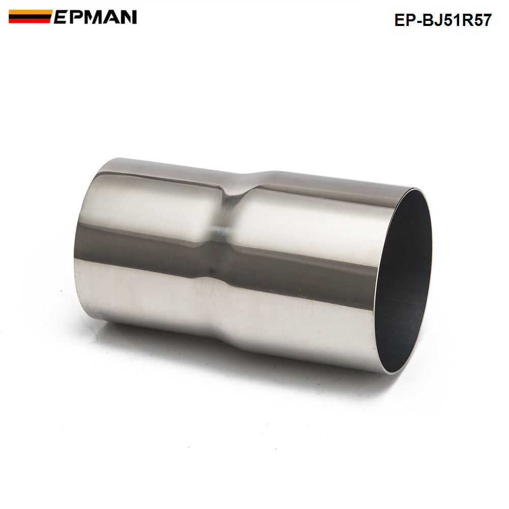 """3/"""" ID to 2.25/"""" OD exhaust reducer adapter coupler pipe 304 stainless steel"""