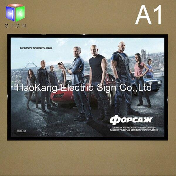 Montado en la pared LED Movie Poster marco con aluminio magnético ...