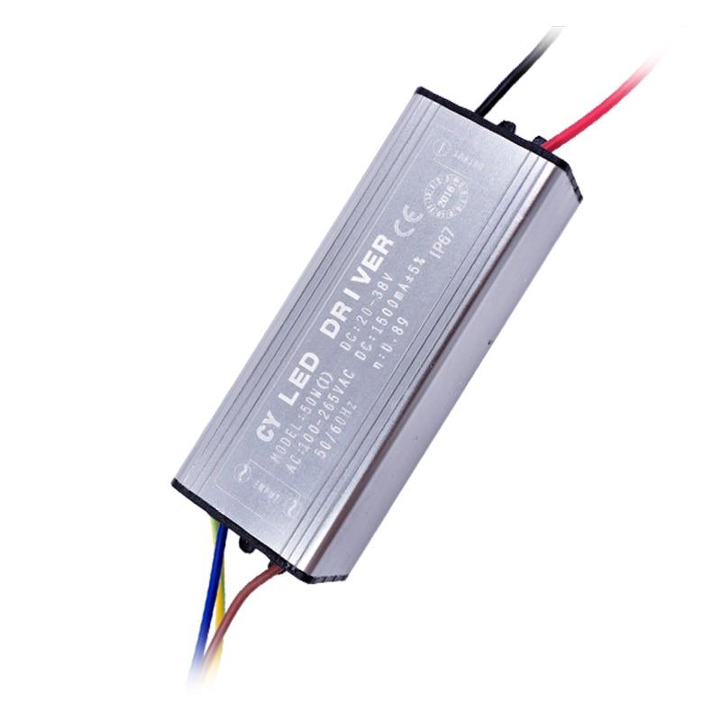 LED Sürücü Güç Kaynağı 10 W 20 W 30 W 50 W 70 W IP67 Iuput AC100-265V Çıkış DC22-38V Işıklandırmalı Çip Sürekli Akım Için 50-60 HZ