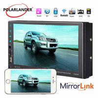 7 2 Din MP5 Player Stereo Reversing Rear View HD Capacitive Screen Bluetooth 2018 New USB/AUX/FM/SD/SWC Mirror Link Wireless