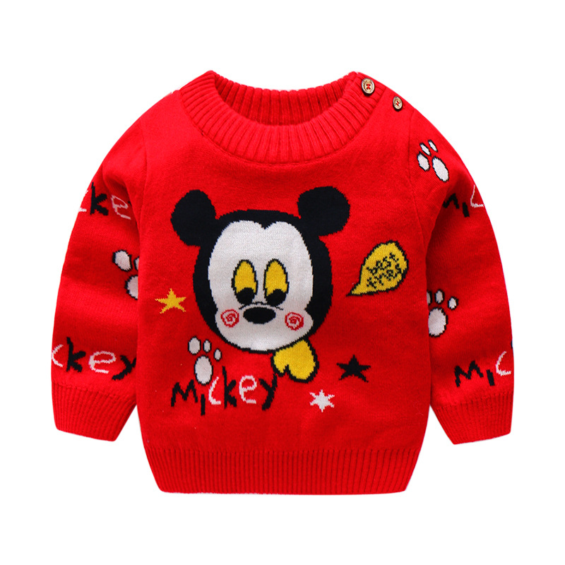 Baby Girls Sweater Autumn Winter Boys Jumper Knitted Outerwear Winter Pullover