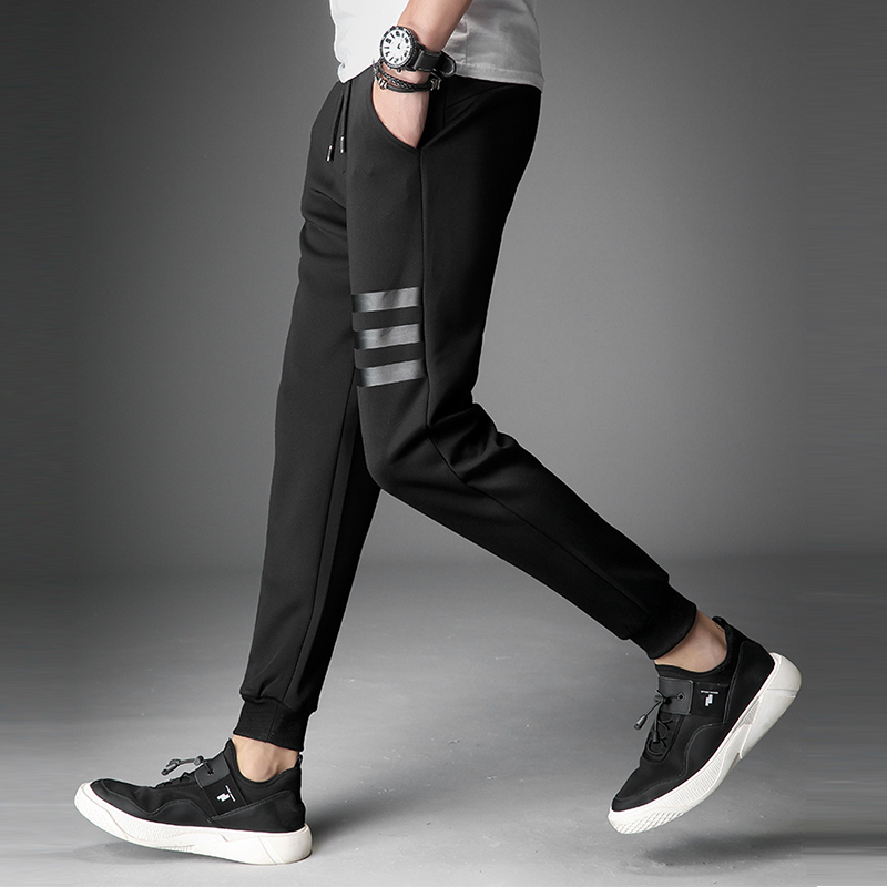 Skinny Pants Joggers Striped Pants