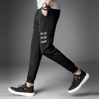 Mens Jogger Sweatpants 2018 New Fashion Skinny Pants Joggers Striped Pants Gyms Clothing Men S Fitness