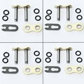 4 pcs lot Heavy Duty DID 520HV 520 Chain Connecting Master Link W/ O-Ring Seal for Motorcycle Dirt Bike ATV Quad Gold