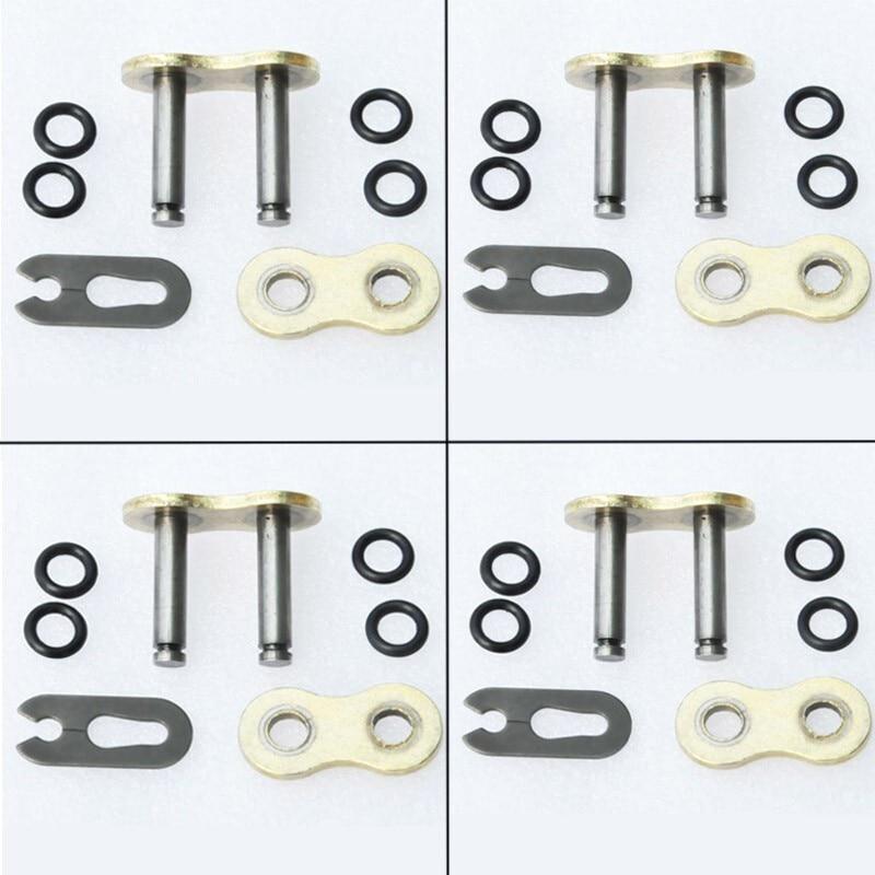 4 pcs lot <font><b>Heavy</b></font> <font><b>Duty</b></font> 520HV 520 <font><b>Chain</b></font> <font><b>Connecting</b></font> <font><b>Master</b></font> <font><b>Link</b></font> W/ O-Ring Seal for Motorcycle Dirt Bike ATV Quad Gold
