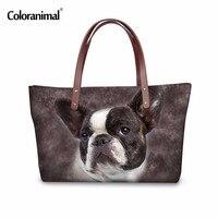 Coloranimal Fashion Women Handbag Owl Leopard Dog Printing Woman Large Capacity Tote Bag Big Ladies Famous