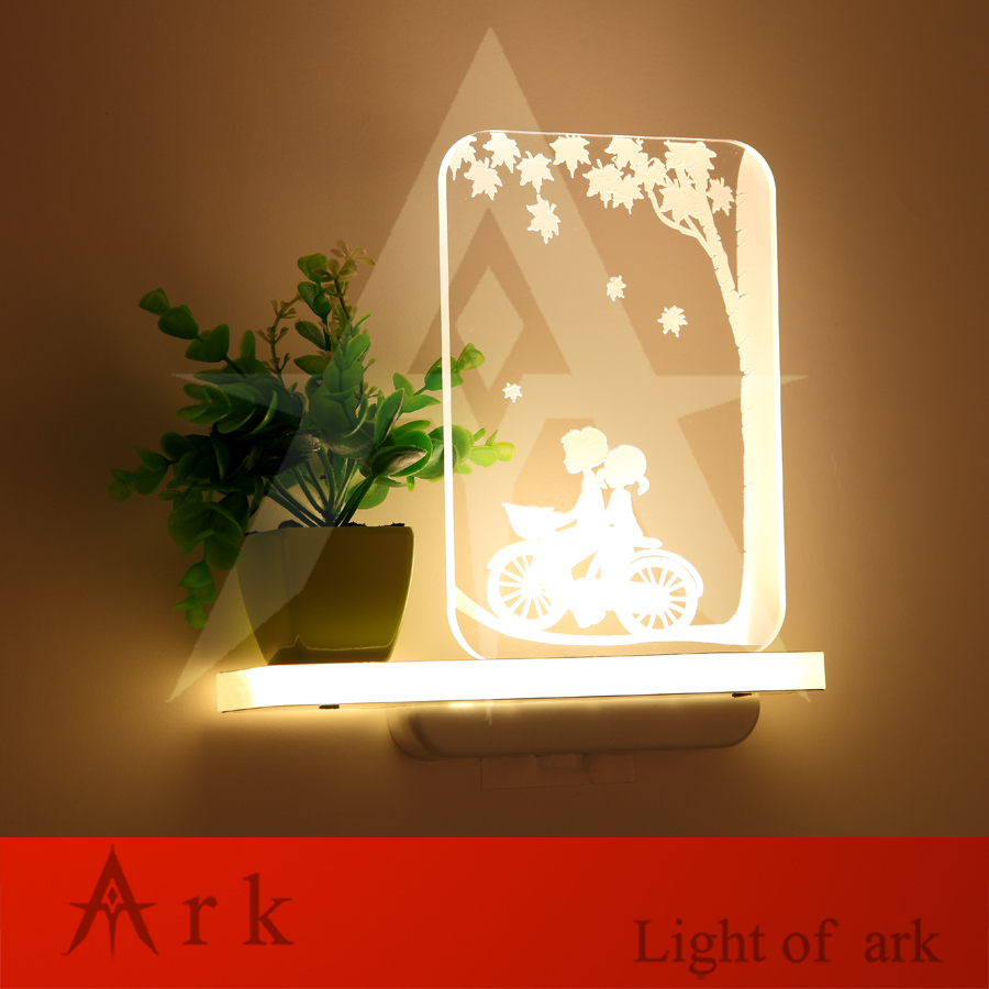 Modern Indoor 5w LED Warm light Carved Acrylic Wall Sconce Wall ...