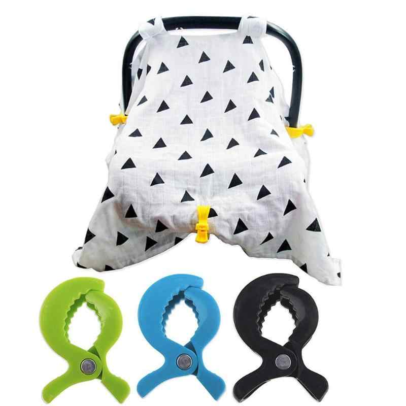 2 ชิ้น/เซ็ตเด็กที่มีสีสันรถอุปกรณ์เสริมพลาสติกรถเข็นเด็กของเล่นคลิปรถเข็นเด็ก Peg Hook ผ้าห่มยุงสุทธิคลิปอุปกรณ์เสริมสำหรับรถเข็นเด็กทารก