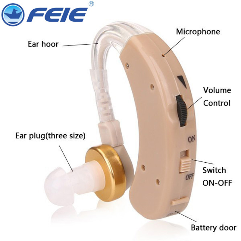 Cheap Hearing Aid Sound Amplifier Micro Aparelho Auditivo BTE S-520 Deaf-aid Free Shipping Hot Selling aparelho auditivo 8 channel cic hearing aid loss for severe deaf s 17a drop shipping
