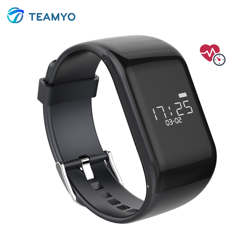 Teamyo R1 BT4 0 font b Smart b font Band Bracelet Heart Rate Monitor Smartband Activiety