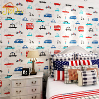Cartoon Transportation Car Non Woven Wall Paper For Kids Rooms Living Room Sofa Background Wall Decals