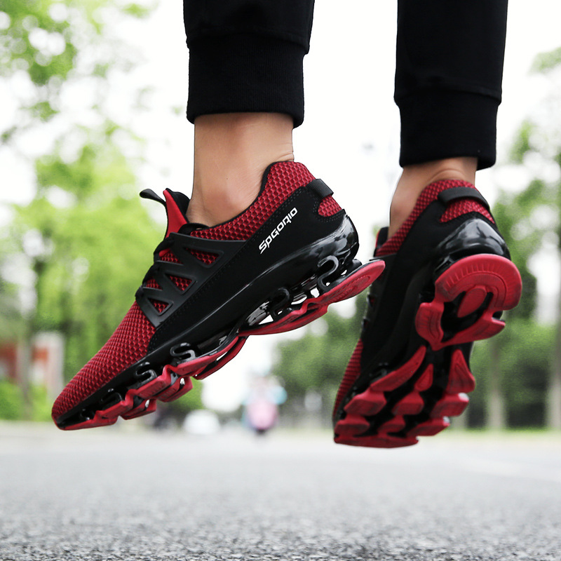 Spring and summer blade warrior running shock absorber fitness shoes breathable fly mesh face tide male running shoes