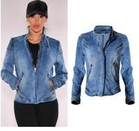 O Envio gratuito de Mulheres Jaqueta de Beisebol Primavera Zipper Denim Casacos Xs/L Calça Jeans Femininos Casacos Seção Curta Jaqueta Jeans Casuais F1