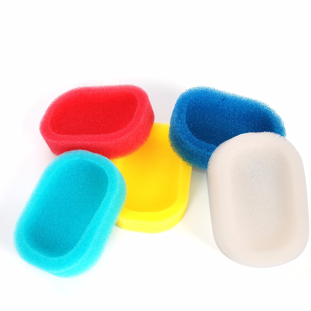 2pcs/lot Sponge Soap Dishes Box Absorbent Easy To Dry Soap Holder Tray Storage Box Sponge Holder Organizer Bathroom Accessories