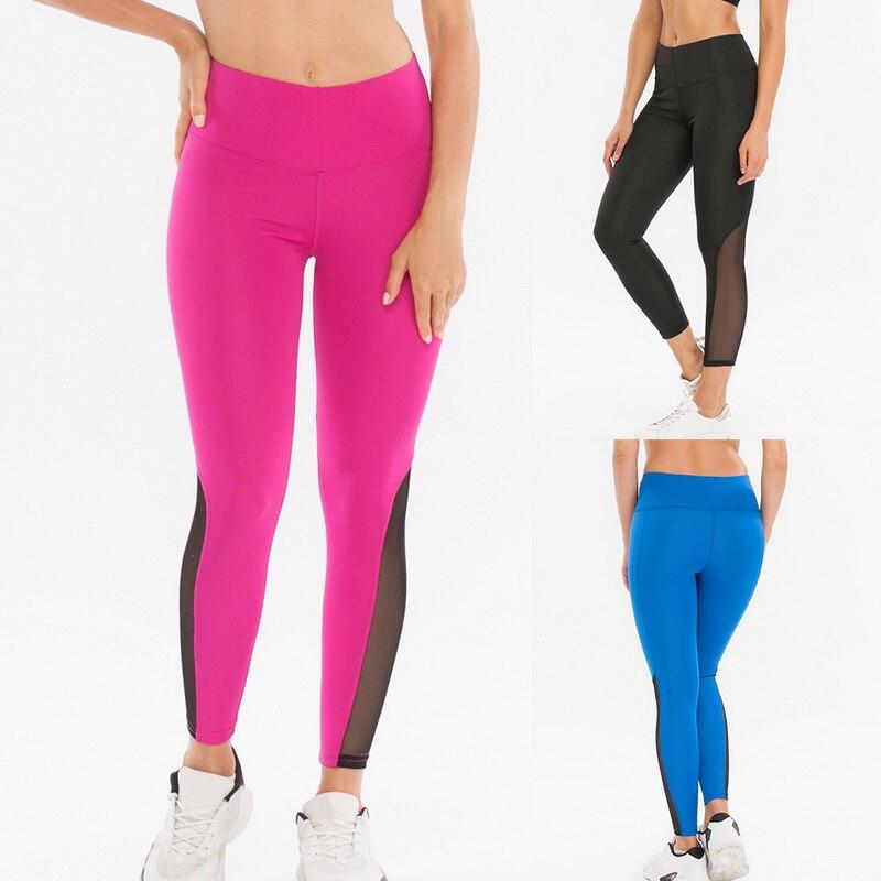 Fashion Push Up Leggings Sportswomen Casual Legging High Waist Fitness Pant Summer Mesh Patchwork Workout Jeggings Leggins