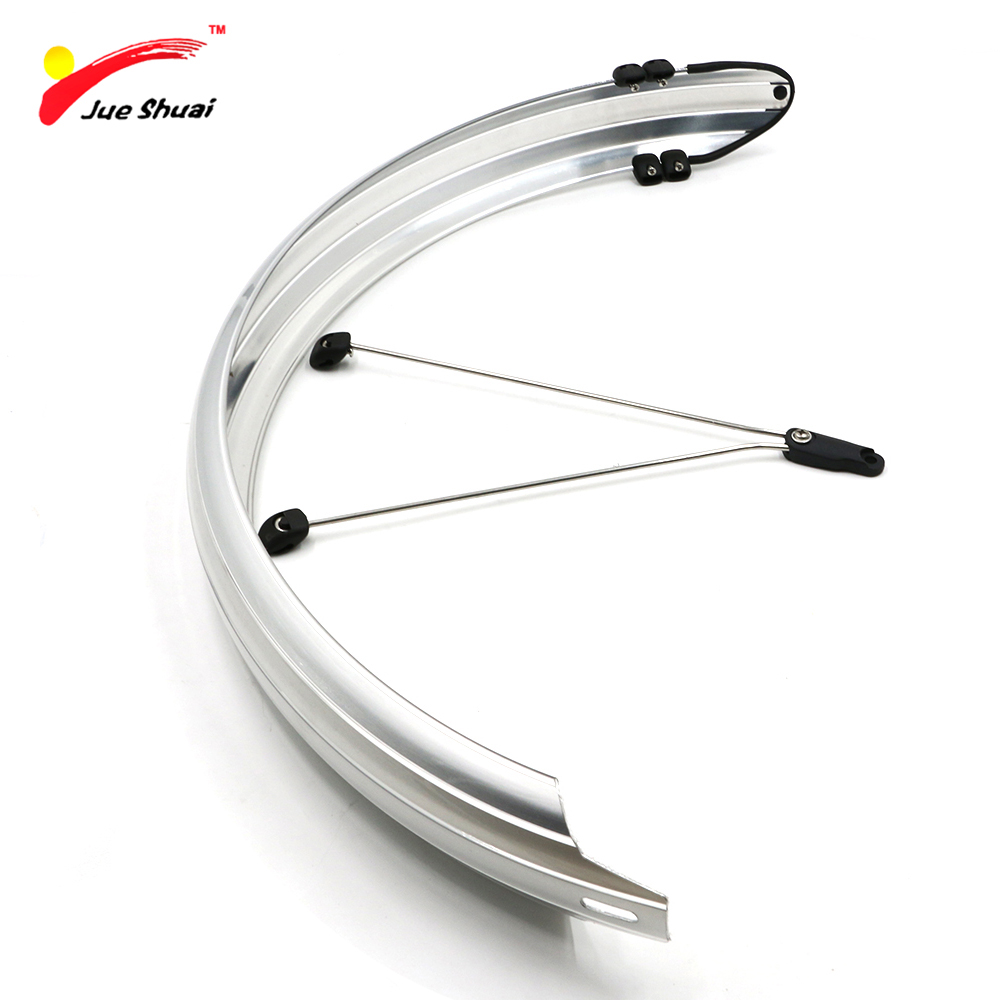 Bike Long Mud Guards Fender Set with v-stays PVC Flexible Full Mudguards for Road Bike Bicycle 700C 26 24 20 Fenders bike attitude alloy for different angle stays