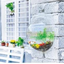 Behokic Dia 23cm 29 5cm Acrylic Fish Bowl Wall Mount Hanging Aquarium Aquatic Pet Supplies Products