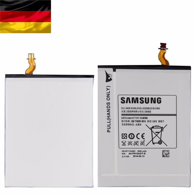 ORIGINAL BATTERY For SAMSUNG EB-BT115ABE TABLET GALAXY TAB 3 LITE 7.0 SM-T111 T110 3600mAh Batteria+tool+track number